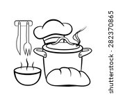 cooking and kitchen outline...   Shutterstock .eps vector #282370865