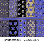 set of  abstract vector floral... | Shutterstock .eps vector #282388871