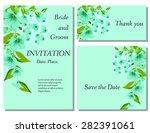 wedding flower invitation ...   Shutterstock .eps vector #282391061
