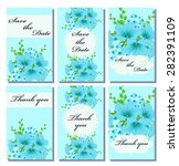 vintage vector card templates.... | Shutterstock .eps vector #282391109