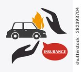 insurance design over white...   Shutterstock .eps vector #282393704