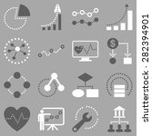 dotted vector infographic...   Shutterstock .eps vector #282394901