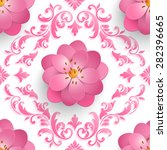 Vector Sakura Flower Seamless...