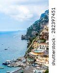 positano  italy   may 09  2015  ...   Shutterstock . vector #282397451