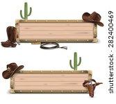 vector cowboy signboards | Shutterstock .eps vector #282400469