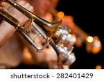 trumpet in the orchestra closeup | Shutterstock . vector #282401429