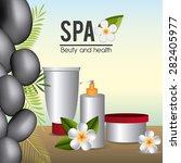 spa design over white...   Shutterstock .eps vector #282405977