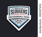 baseball shield logo badge... | Shutterstock .eps vector #282407654
