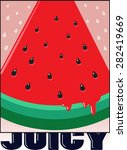 Watermelon Print Slogan. For T...