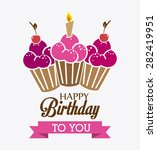 happy birthday colorful card... | Shutterstock .eps vector #282419951