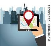 gps tech design  vector... | Shutterstock .eps vector #282420281