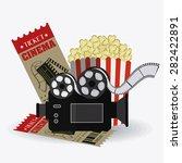 cinema design over white... | Shutterstock .eps vector #282422891