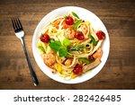 pasta  food  meal. | Shutterstock . vector #282426485