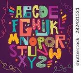 funny alphabet | Shutterstock .eps vector #282431531