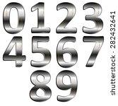 stock illustration iron digit 0 ...   Shutterstock . vector #282432641