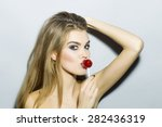sexual young blonde girl... | Shutterstock . vector #282436319
