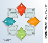 abstract round infographic... | Shutterstock .eps vector #282442349