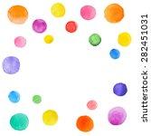 abstract splash of watercolor... | Shutterstock .eps vector #282451031