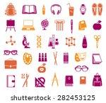 big set of vector school and... | Shutterstock .eps vector #282453125