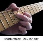 guitarist playing an electric... | Shutterstock . vector #282454589