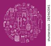 vector set of different women... | Shutterstock .eps vector #282462041