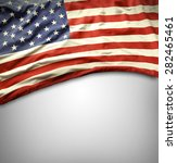american flag on grey background | Shutterstock . vector #282465461
