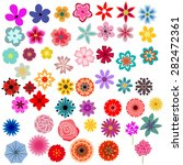 different decorative flowers... | Shutterstock .eps vector #282472361