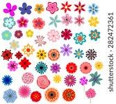 different decorative flowers... | Shutterstock .eps vector #282472361
