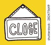 close banner doodle | Shutterstock .eps vector #282475649