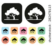 tree. fores  park icon. vector | Shutterstock .eps vector #282478115