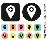 map icon. gps icon. vector