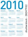 simple blue calendar for year... | Shutterstock .eps vector #28247932