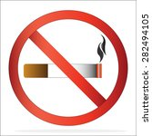 no smoking sign on white...   Shutterstock .eps vector #282494105