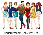 many models wearing fashionable ...