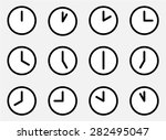icons 24 hours. watches and...   Shutterstock .eps vector #282495047