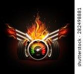 racing background  speedometer... | Shutterstock .eps vector #282498881