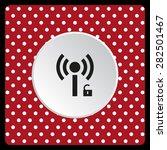 white polka dots on a red white ... | Shutterstock .eps vector #282501467