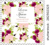 invitation card with floral... | Shutterstock .eps vector #282502325