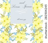 invitation card with floral... | Shutterstock .eps vector #282504245