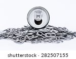 metal cans and tins prepared... | Shutterstock . vector #282507155