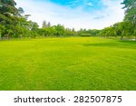 green grass on a golf field | Shutterstock . vector #282507875