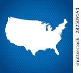 map of usa | Shutterstock .eps vector #282509591