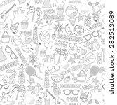 black and white i love summer... | Shutterstock .eps vector #282513089