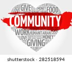community word cloud  heart... | Shutterstock .eps vector #282518594