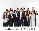 business team showing thumb. | Shutterstock . vector #282519401