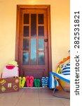 summer house. flip flops ... | Shutterstock . vector #282531821