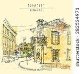 street corner in budapest city  ... | Shutterstock .eps vector #282534971