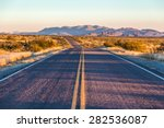 endless asphalt road with blue... | Shutterstock . vector #282536087