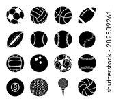 set of sports balls | Shutterstock .eps vector #282539261
