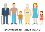 family flat icons set with... | Shutterstock .eps vector #282540149